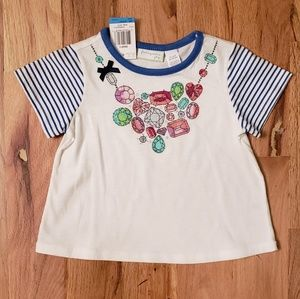 NWT First Impressions Jeweled Necklace T-shirt